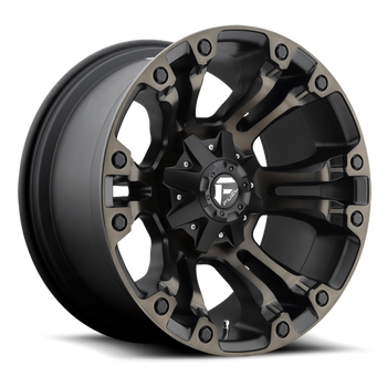 Wheels - Fuel Offroad - Fuel Off-Road - Fuel Vapor D569 Black & Machined with Dark Tint