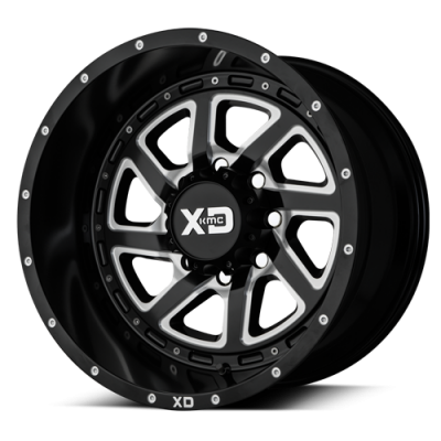 Wheels - XD Wheels - XD Series - XD833 RECOIL SATIN BLACK MILLED W/ REVERSIBLE RING