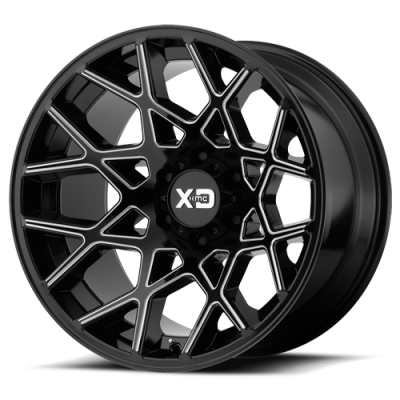 Wheels - XD Wheels - XD Series - XD831 GLOSS BLACK MILLED