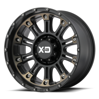 Wheels - XD Wheels - XD Series - XD829 HOSS 2 SATIN BLACK MACH W/ DARK TINT CLEAR COAT