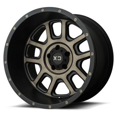 Wheels - XD Wheels - XD Series - XD828 MATTE BLACK W/ DARK TINT CLEAR
