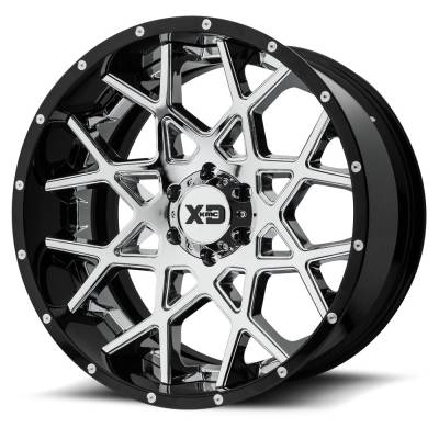 XD Series - XD203 CHROME CENTER W/ GLOSS BLACK MILLED LIP
