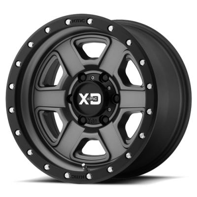 Wheels - XD Wheels - XD Series - XD133 SATIN GRAY W/ S-BLK LIP