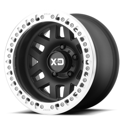 Wheels - XD Wheels - XD Series - XD229 MACHETE CRAWL 17 x 9 SATIN BLACK W MACHINED RING