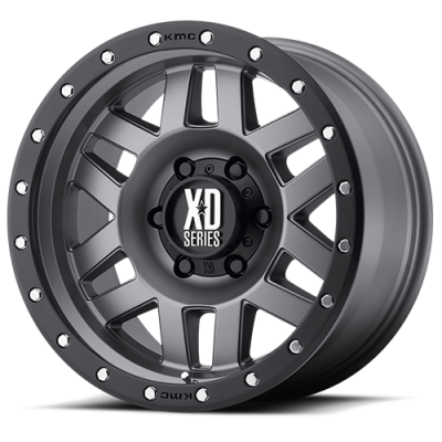 Wheels - XD Wheels - XD Series - XD128 MACHETE MATTE GRAY W/ BLACK RING