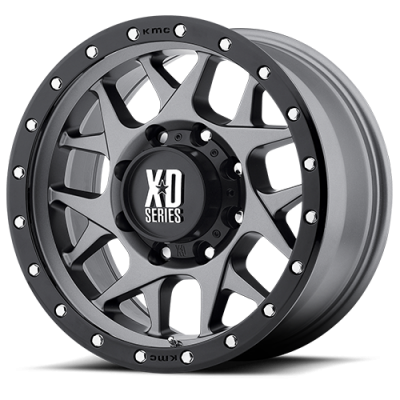 Wheels - XD Wheels - XD Series - XD127 BULLY MATTE GRAY W/ BLACK RING