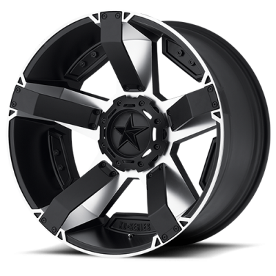 Wheels - Rockstar Wheels - Rockstar Wheels - XD811 RS2 MATTE BLACK MACHINED W/ ACCENTS