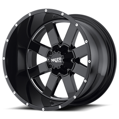 Wheels - Moto Metal - MOTO-METAL - Moto Metal MO962 GLOSS BLACK W/ MILLED ACCENTS