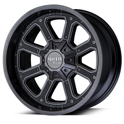 Wheels - Moto Metal - MOTO-METAL - Moto Metal MO984 MATTE GRAY W/ G-BLK INSERTS