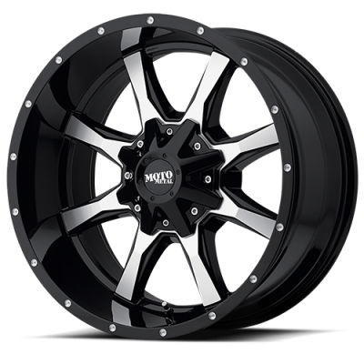 MOTO-METAL - Moto Metal MO970 GLOSS BLACK W/ MACHINED FACE