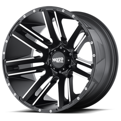 Wheels - Moto Metal - MOTO-METAL - Moto Metal MO978 Razor SATIN BLACK MACHINED