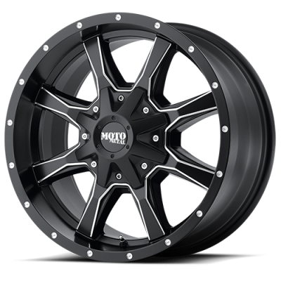 Wheels - Moto Metal - MOTO-METAL - Moto Metal MO970 SATIN BLACK MILLED