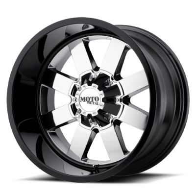 Wheels - Moto Metal - MOTO-METAL - Moto Metal MO962 PVD CENTER W/ GLOSS BLACK LIP