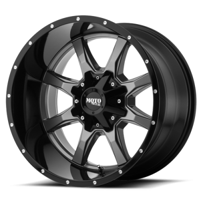Wheels - Moto Metal - MOTO-METAL - Moto Metal MO970 GLOSS GREY CENTER W/ GLOSS BLACK LIP