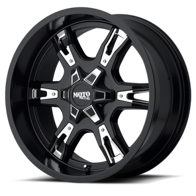 Wheels - Moto Metal - MOTO-METAL - Moto Metal MO969 SATIN BLACK W/ ACCENTS