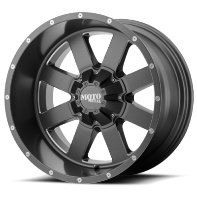 Wheels - Moto Metal - MOTO-METAL - Moto Metal MO962 SATIN GRAY W/ MILLED ACCENTS