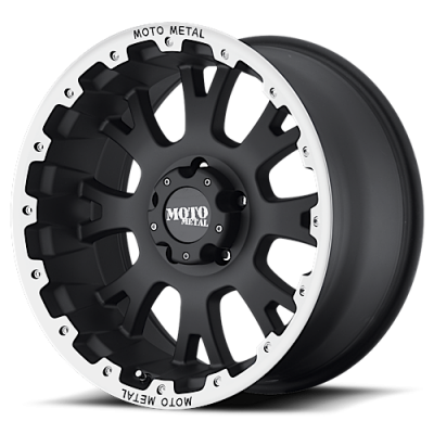Wheels - Moto Metal - MOTO-METAL - Moto Metal MO956 17 X 9 MATTE BLACK W/ MACHINED LIP