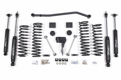 "ZONE OFFROAD PRODUCTS - Zone 07-17 Jeep Wrangler JK 4"" Suspension System W/ Fox Adventure Series Shocks & Stabilizer - Image 9"