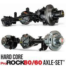 Upgrade to 1 tons - Front & Rear Bolt In Axles - Dynatrac - Hard Core ProRock 62/60 Axle-Set™