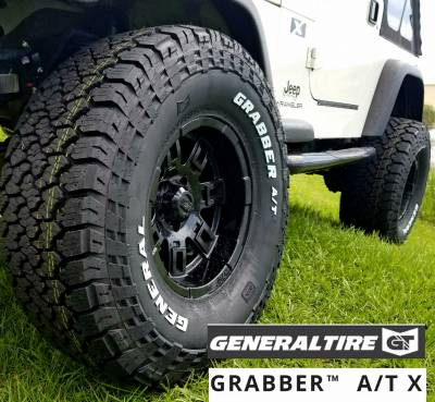 "Wheel & Tire Shop - 37"" - GENERAL TIRE - General Grabber A/T X 37X12.50R17"